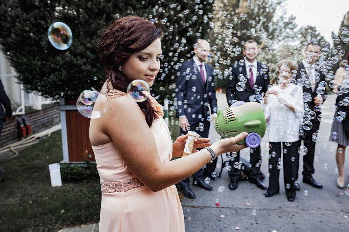 Seifenblasenmaschine Hochzeit