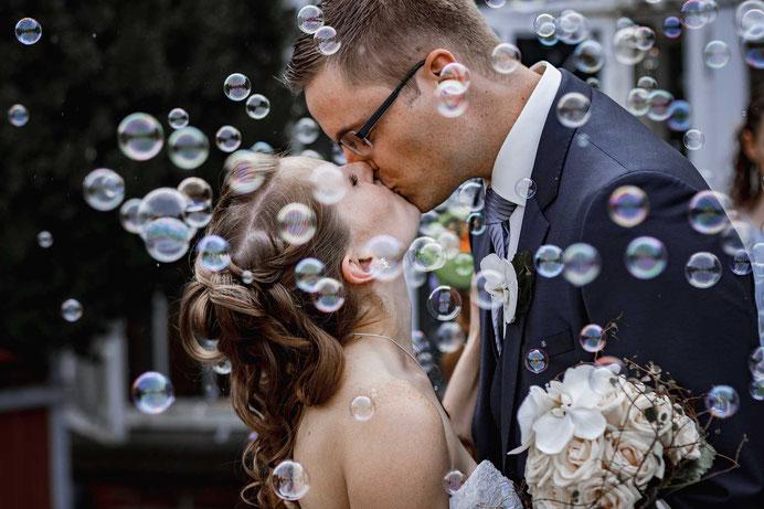 Seifenblasenfotos Hochzeit