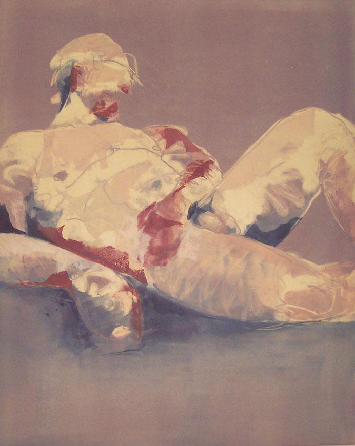 """""""Eros"""" monotype, 40x32, 2015, $1250"""