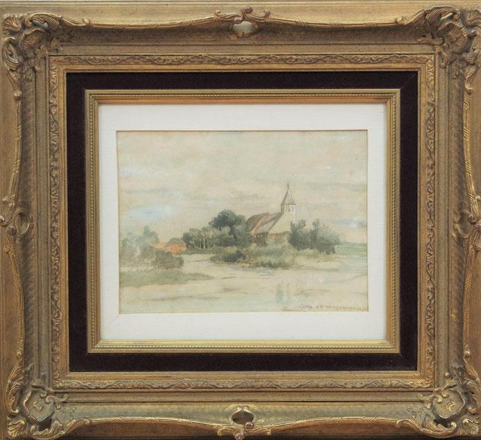 te_koop_aangeboden_een_aquarel_van_kunstschilder_hendrik_johannes_weissenbruch_1824-1903_haagse_school