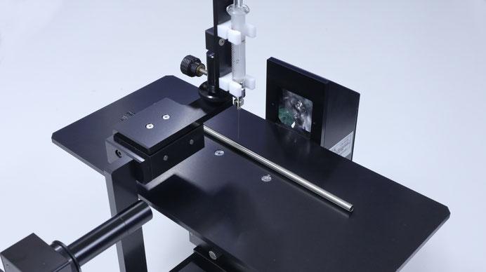 接触角計B100用幅広ステージ事例