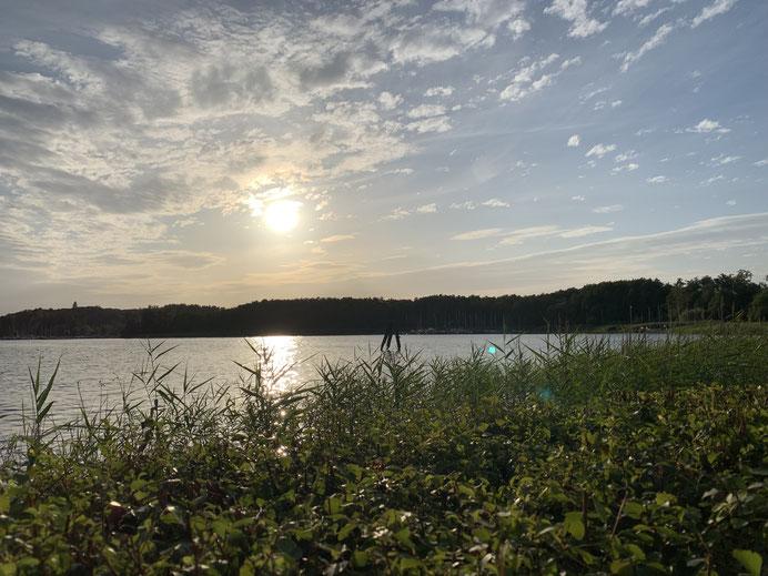 Nördliche Spitze des Ratzeburger Sees - Übergang in die Wakenitz nach Lübeck