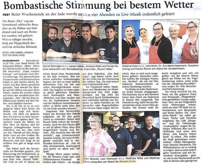Wilhelmshavener Zeitung vom 02.07.2018