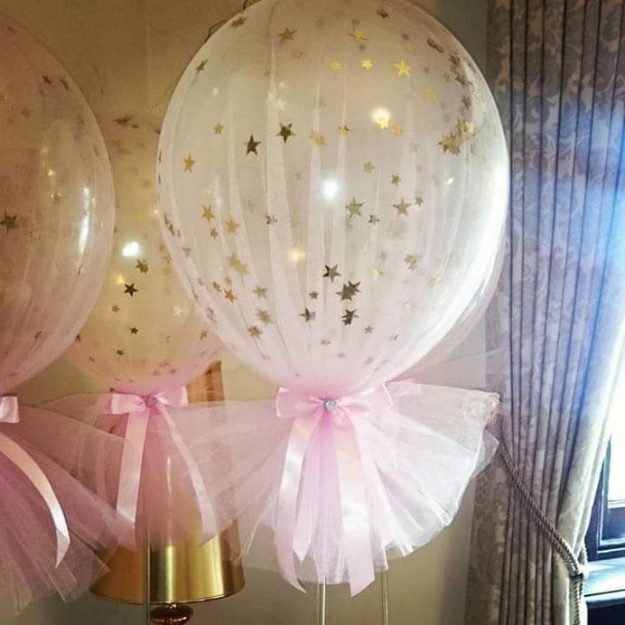 globos cubiertos de tela