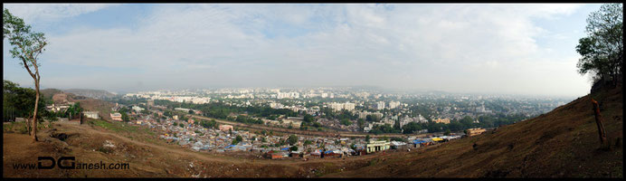 Panorama image of Pandharpur.