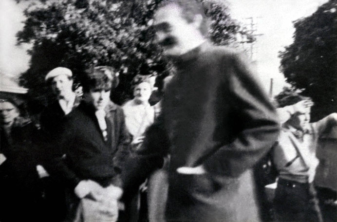 Meher Baba possibly entering Dr. O'Brien's home in Camberwell, Melbourne.