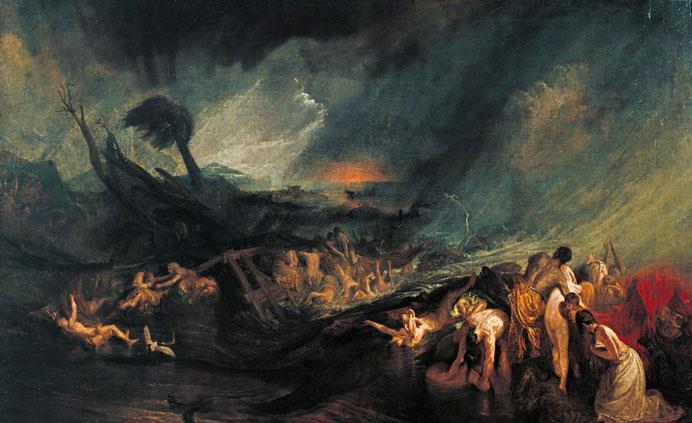 """J.M.W. Turner, """"Il diluvio"""" (1805)"""