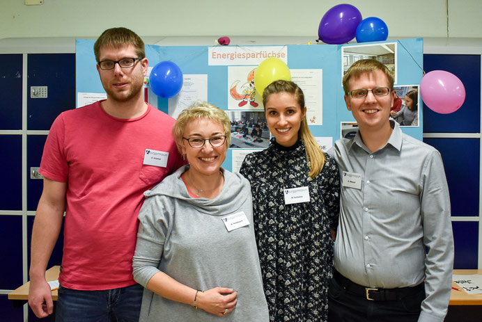 Die Fachschaft Physik: Sebastian Gramse, Agnes Hülsbusch, Melanie Tsetsilas, Gordian Menzel