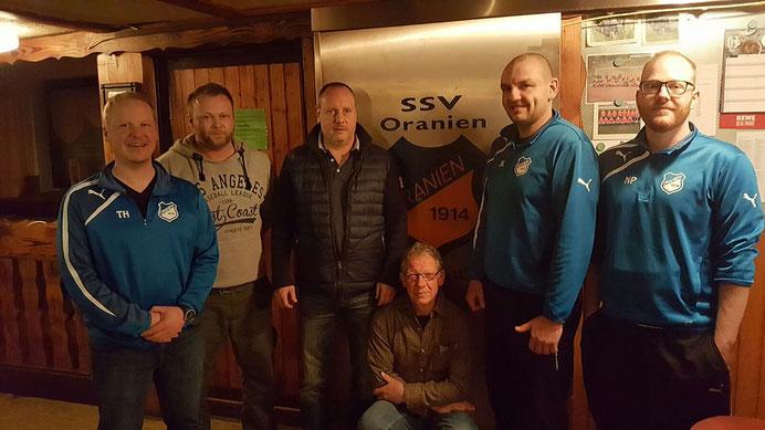 v.l.n.r: Timo Heimann, Florian Wolf, Hardy Kessler, Uwe Hain, Jens Krewenka und Nico Polzer