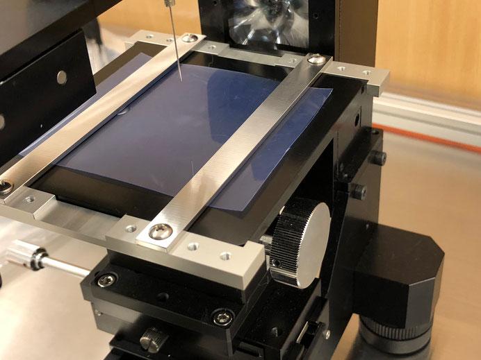 フィルム用接触角計ステージ治具