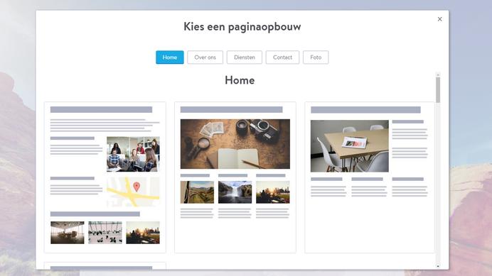 layout webpagina maken
