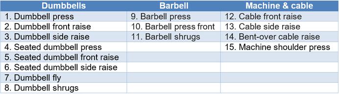 overview shoulder exercises dumbbell press fly side raise front raise
