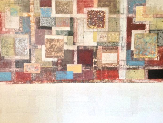 """"""" Deconstrucción """" - 90H x 130W x 2cm - Acrílico sobre lienzo"""