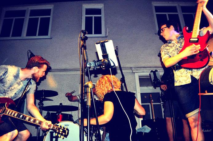 Holy Smoke Rock Coverband Altstadtfest Salmünster 2018. Partyband und Hochzeitsband in Hessen.