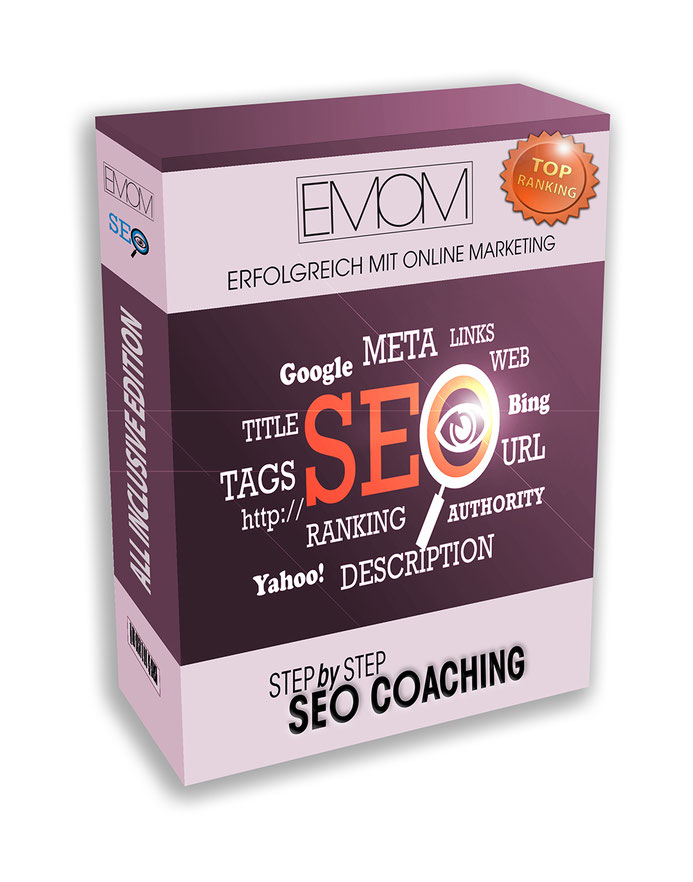 Produkt SEO Coaching Step by Step in der ALL-inclusive Version