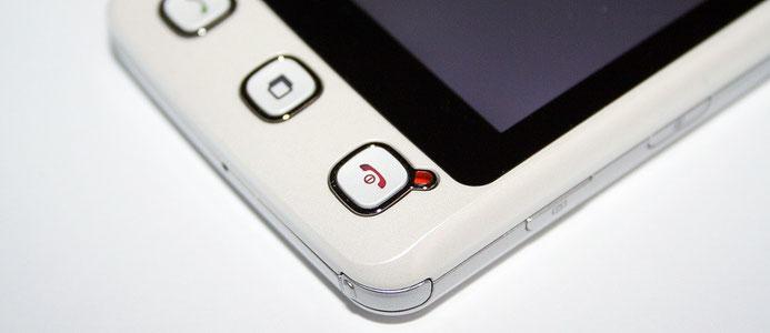 LED an einem Mobiltelefon