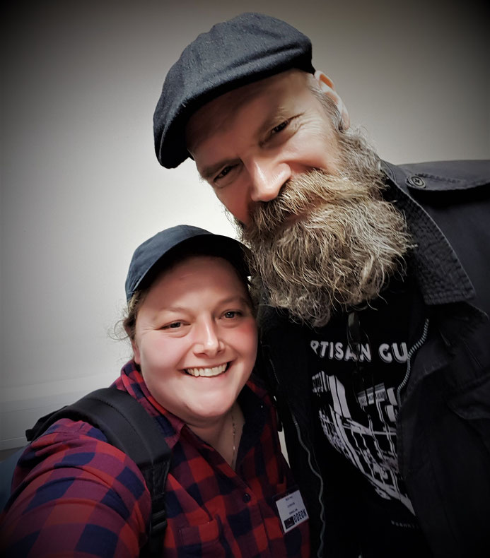 Selfie with Tyler Mane at For the Love of Horror
