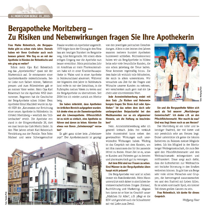 Interview, MoritzvomBerge Berg Apotheke Hildesheim, Moritzberg