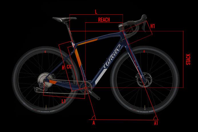 Wilier JENA HYBRID Geometrie Italian Cycle Experience