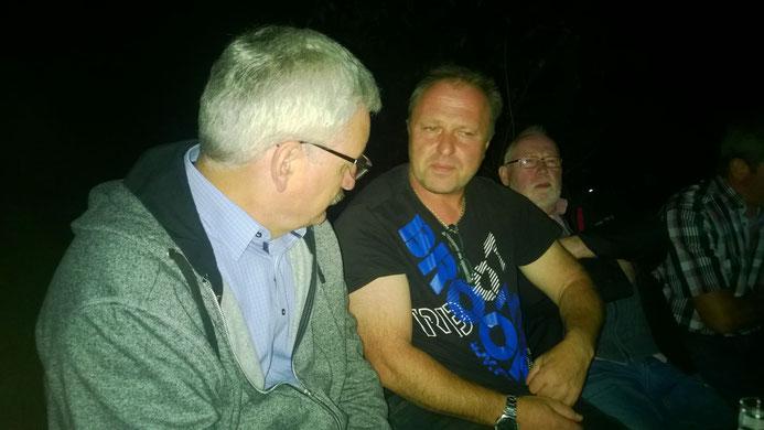Superintendent Dietmar Chudaskar im Gespräch mit den Bobbie's