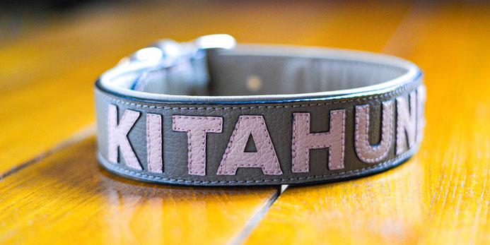 """Hundehalsband mit der applizierten Personalisierung """"Kitahund"""""""
