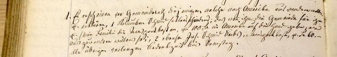 Protokoll GR Wittnau, Sonntag, 16. Juni 1850 (GA Wittnau)