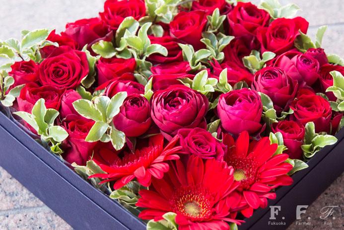 花農家さんがつくるボックスフラワー