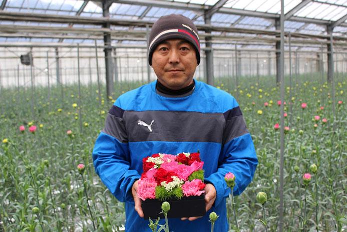 福岡市北崎地区の花農家楢崎さんと「箱花(はこばな)」