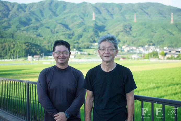 福岡市早良区脇山 馬場康平さん(左)雄治さん(右)