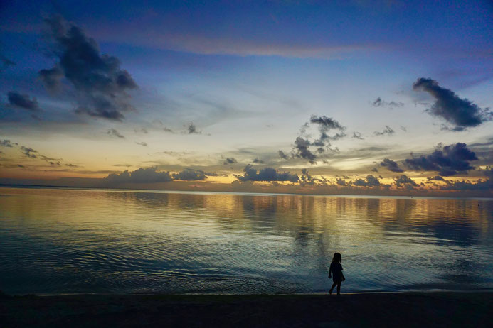 Sonnenuntergang, Strand, Bora Bora