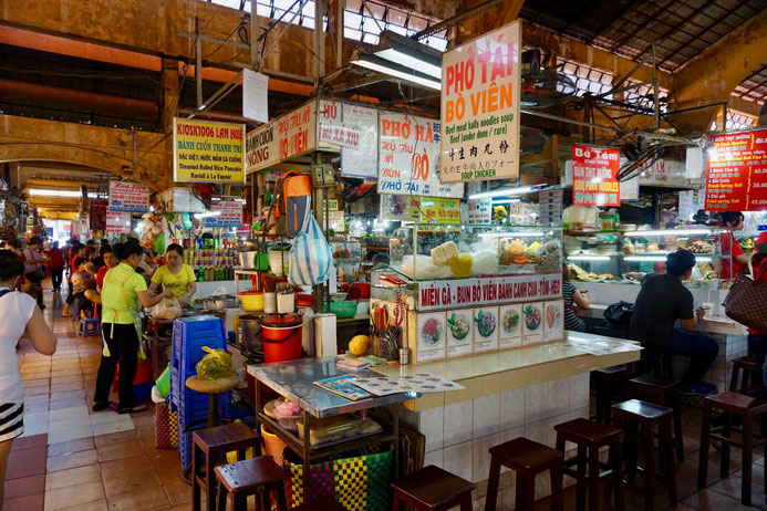 Markthalle, Essensstände, Vietnam