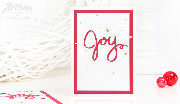Weihnachtskarten-Joy-Stampin Up