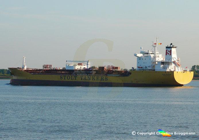 Chemie- / Öltanker STOLT BRELAND, Elbe 05.09.2018