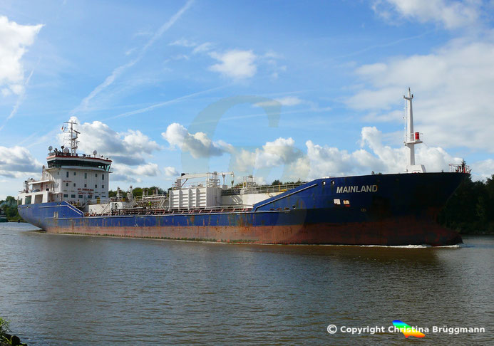 Chemie- / Öltanker MAINLAND, Nord-Ostsee-Kanal, 25.09.2018