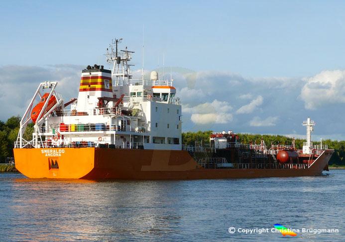 Chemie- / Öltanker SMERALDO, Nord-Ostsee-Kanal, 25.09.2018