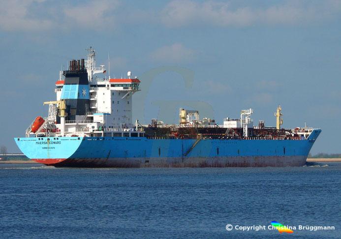 Chemie- / Öltanker MAERSK EDWARD, Elbe 09.04.2019