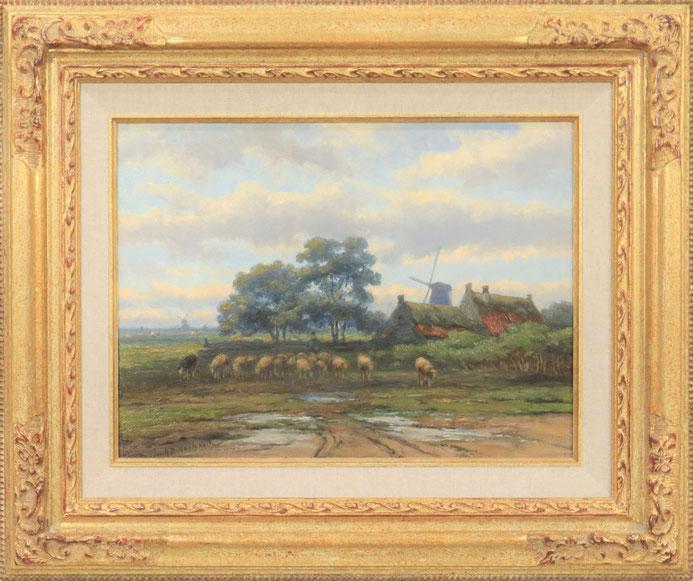 te_koop_aangeboden_een_landschaps_schilderij_van_de_nederlandse_kunstschilder_johannes_hermanus_barend_koekkoek_1840-1912
