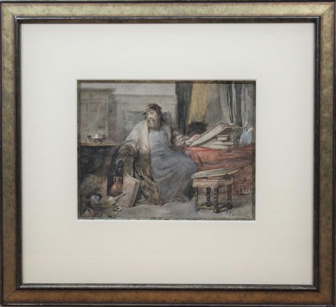 te_koop_aangeboden_een_aquarel_van_de_nederlandse_kunstschilder_johannes_weiland_1856-1909_larense_school