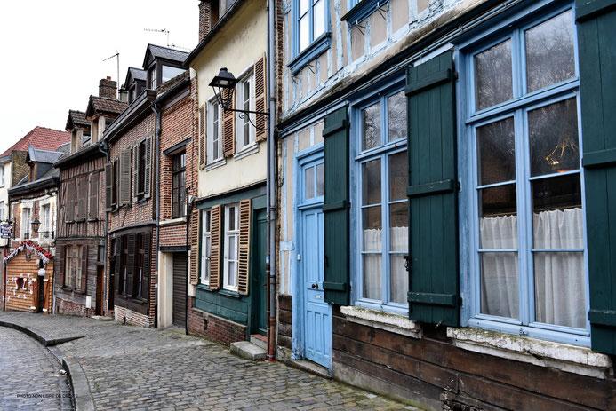 Rue Metz L'évêque, Amiens, photo non libre de droits