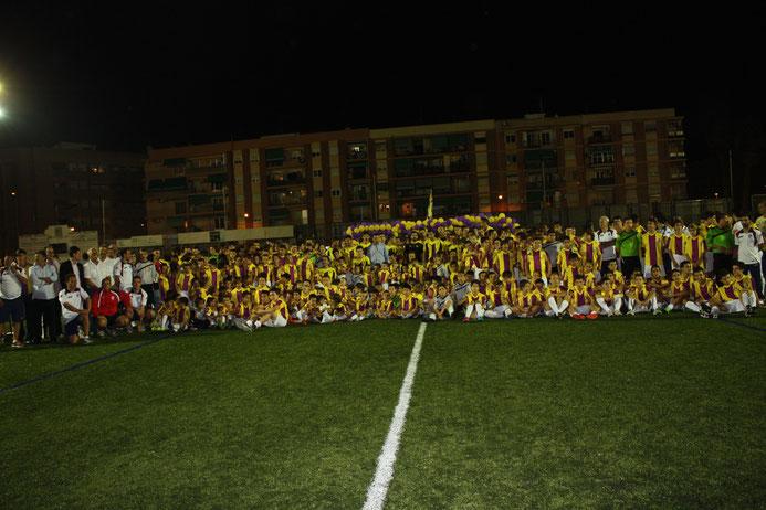 PRESENTACIÓN DE LA ESCUELA DEL BURJASSOT CF LA PASADA CAMPAÑA