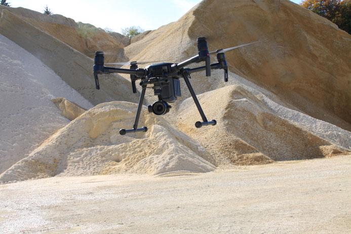 Photogrammetrische UAV Vermessungen bei Kies- und Sandwerken