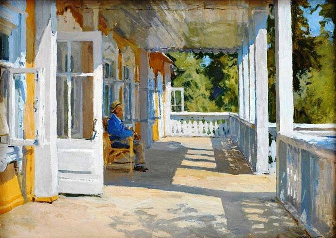 "Alexei Gritsai, ""Nella veranda a Senezh"" (1964)"