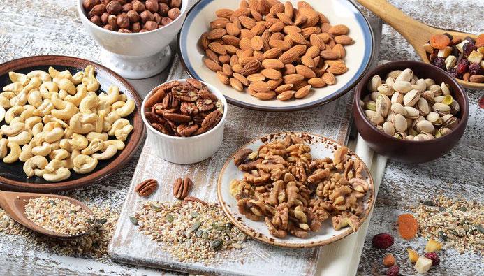 Nüsse enthalten viel pflanzliches Eiweiß und hochwertige Fette