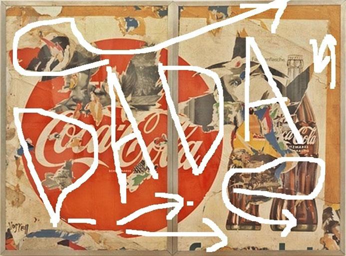"Pedro Meier – ""DADA – Coca-Cola"" – Hommage à Dadaismus – Mixmedia / Collage – Sammlung des Künstlers © Pedro Meier Multimedia Artist/ProLitteris Zürich Visual Art, Bangkok Art-Group, SIKART, Visarte – Atelier: Gerhard Meier-Weg Niederbipp Bern Oberaargau"