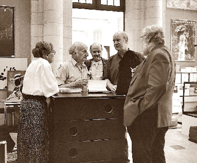 Dorli Meier – Gerhard Meier – Pedro Meier – Franz Hohler – Werner Morlang im Kunstmuseum Solothurn 1995 – Photo © Archiv Pedro Meier / ProLitteris