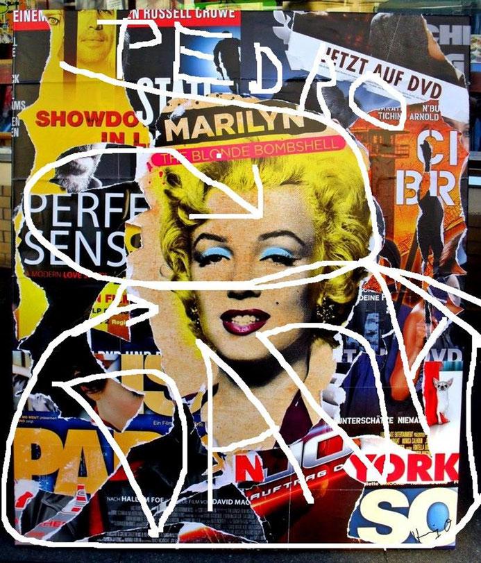 "Pedro Meier – "" DADA - Marilyn Monroe"" – Hommage à Dadaismus – Mixmedia / Collage – Sammlung des Künstlers © Pedro Meier Multimedia Artist/ProLitteris Zürich Visual Art, Bangkok Art-Group, SIKART, Visarte. Gerhard Meier-Weg Niederbipp Bern Oberaargau Jura"