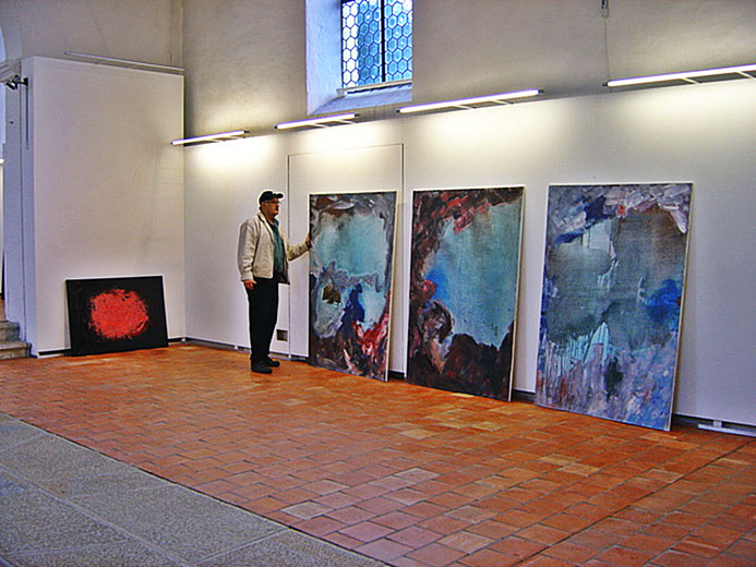 Pedro Meier – Triptychon: Memory of Rügen – Neue Horizonte – Solo-Ausstellung Alte Kirche Kunstverein Härkingen Solothurn 2003. © Pedro Meier Multimedia Artist/ProLitteris Zürich. Bangkok Art-Group Visual Art. Atelier Gerhard Meier-Weg, Niederbipp Bern