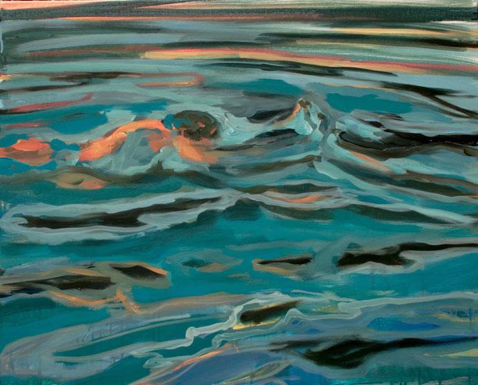 Badende VI, 2016 Acryl auf Leinwand 65x80