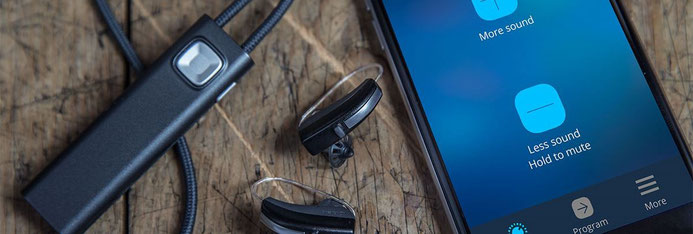 Widex COM-DEX, hearing aids and phone