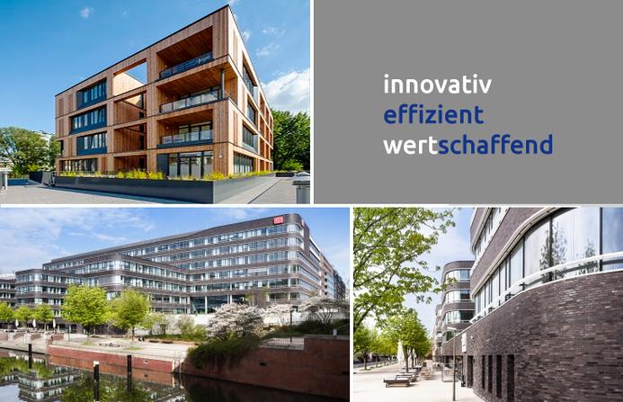 """Grafik: """"Über uns"""" DEUTSCHE IMMOBILIEN Entwicklungs GmbH, Hamburg"""